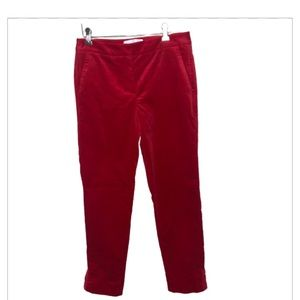 RSVP Tabots Red Velvet Straight Leg Trousers